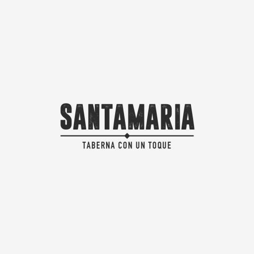 Logotipo de Santamaría Negro