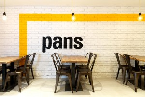 Pared de un local de Pans and Company