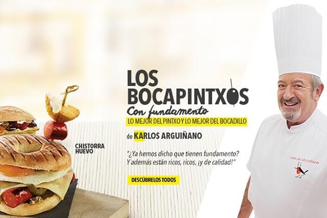 Karlos Arguiñano y sus Bocapintxos de Pans&Company